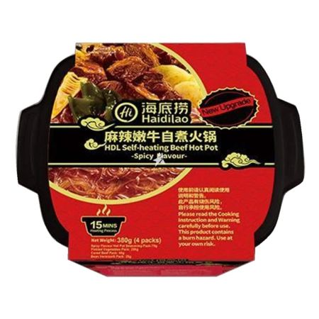 Haidilao Self-heating Beef Hot Pot Spicy Flavour 380g