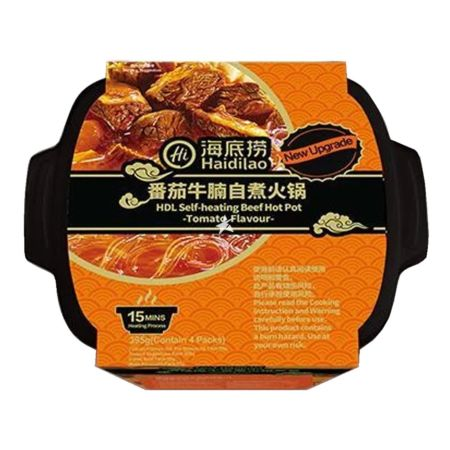 Haidilao Self-heating Beef Hot Pot Tomato Flavour 395g