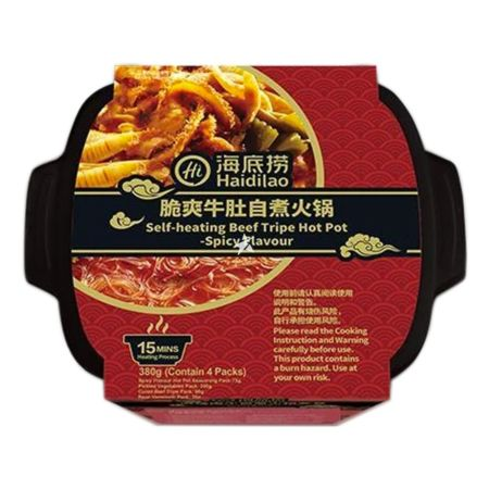 Haidilao Self-heating Beef Tripe Hot Pot Spicy Flavour 380g
