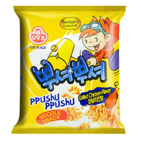 Ottogi Ppushu Ppushu Noodle Snack Grilled Chicken Flavour 90g
