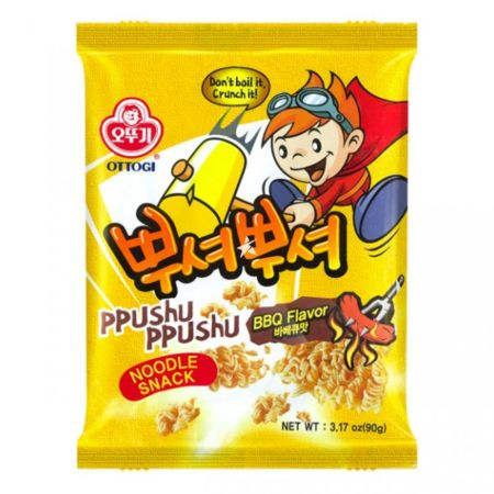 Ottogi Ppushu Ppushu Noodle Snack BBQ Flavour 90g