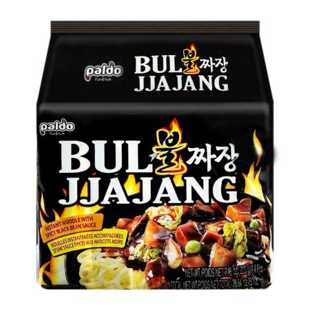 Paldo Bul Jjajang - Instant Noodle with Spicy Black Bean Sauce 203g (Pack of 4)