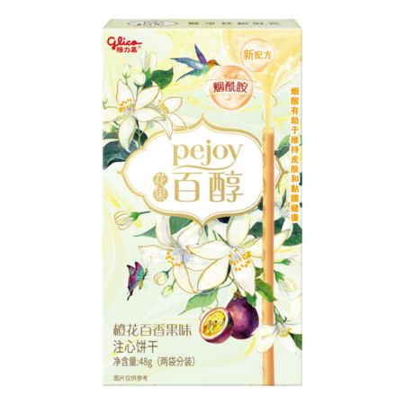 Glico Pejoy Orange Blossom & Passion Fruit Flavour 48g