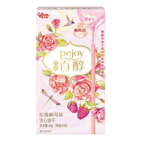 Glico Pejoy Rose & Raspberry Flavour 48g