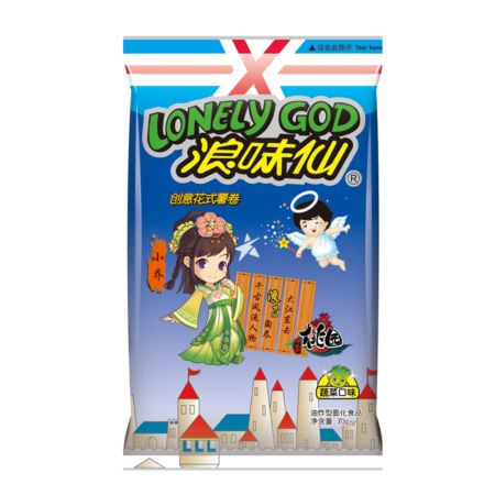 Want Want Lonely God Cracker Vegetable Flavour 70g