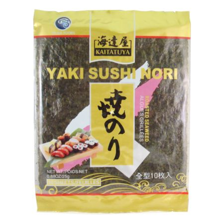 Kaitatuya Yaki Sushinori 10 Sheets Gold 25g