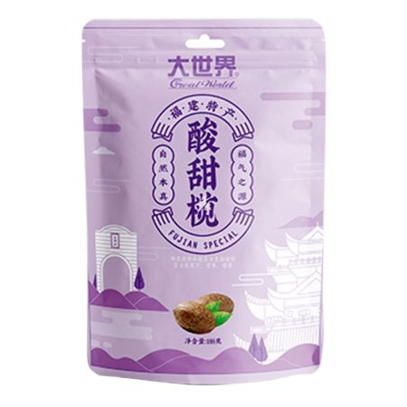 Great World Preserved Olive Sweet and Sour Flavour 188g