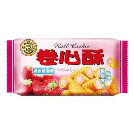 Hsufuchi Roll Cookie Strawberry Flavour 105g