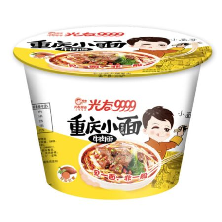 Guang You Chong Qing Instant Noodle Artificial Beef Flavour (Bowl) 105g