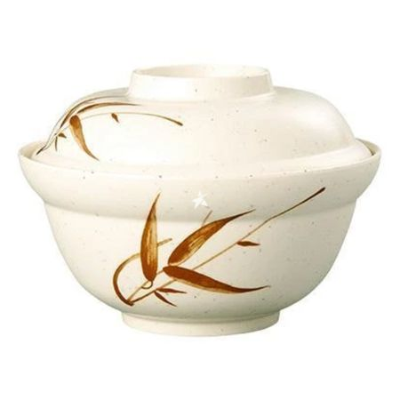 Ever Unison Melamine Plastic Bamboo Pattern Noodle Bowl with Lid 155x107mm [ZZU502C]