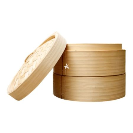 Interlink Bamboo Steamer & Lid 8 Inches