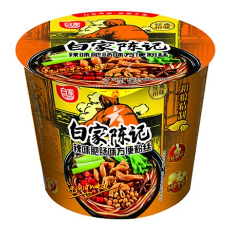 Baijia Instant Sweet Potato Vermicelli - Spicy Artificial Fei Chang Flavour (Bowl) 108g