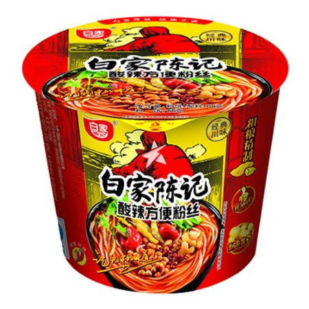 Baijia Instant Sweet Potato Vermicelli - Original Hot & Sour Flavour (Bowl) 108g