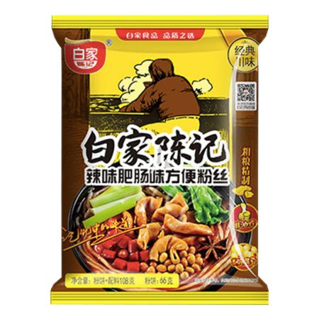Baijia Instant Sweet Potato Vermicelli - Spicy Artificial Fei Chang Flavour 108g