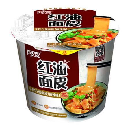Baijia A-kuan Sichuan Broad Noodle - Sour and Hot Flavour Bowl 105g