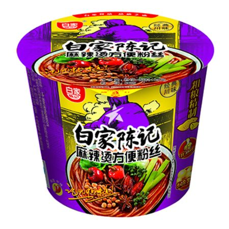 Baijia Instant Sweet Potato Vermicelli - Hot Spicy Flavour (Bowl) 105g
