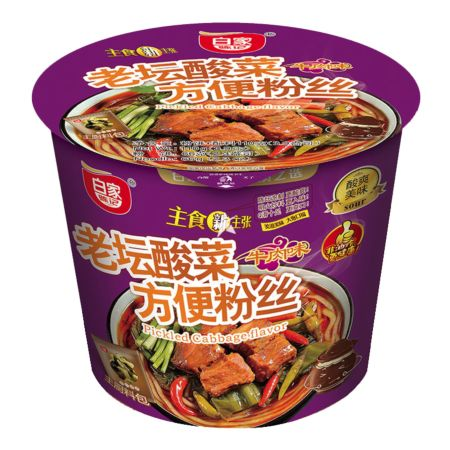 Baijia Instant Sweet Potato Vermicelli - Pickled Cabbage Flavour (Bowl) 110g