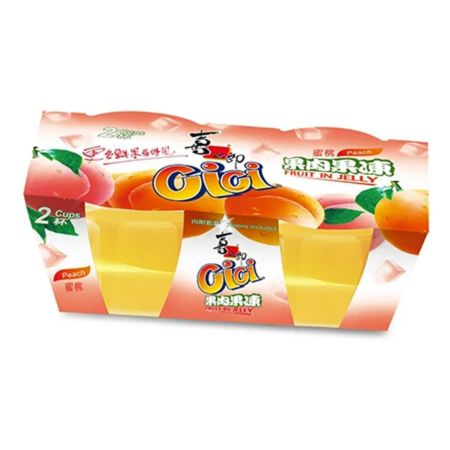 Xizhilang 2 Cups Peach Fruit Jelly (200g*2 Cups) 400g