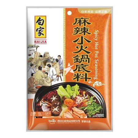 Baijia Spicy Hot Pot Seasoning 200g