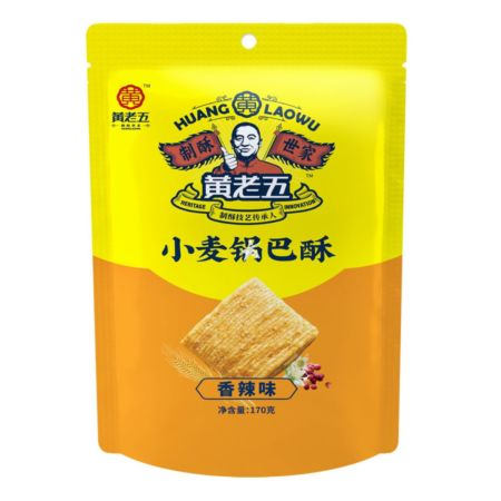 Huang Laowu Wheat Crust Spicy Flavour 170g
