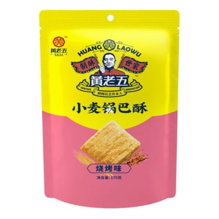 Huang Laowu Wheat Crust BBQ Flavour 170g