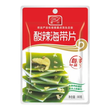 Huichuan Brand Hot and Sour Seaweed Kelp 80g