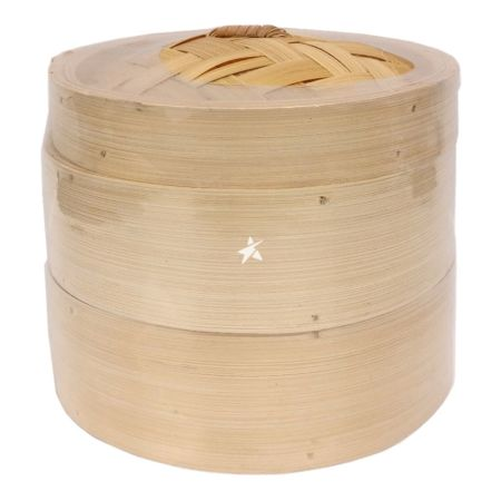 6 Inches Bamboo Steamer (2 Steamer and 1 Lid)