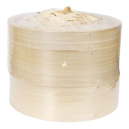 Bamboo Steamer Set (2 Steamer 1 Lid) 8 Inches