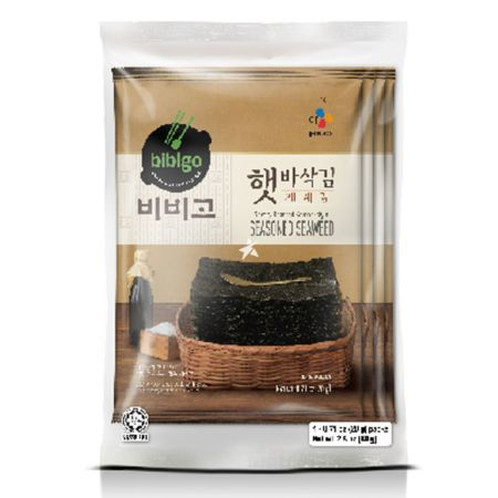 CJ Bibigo Savoury Roasted Korean-Style Seasoned Seaweed (Big Sheet) (20g*4pcs) 80g