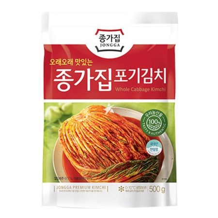 Chongga Pog Gi (Whole Cabbage) Kimchi In Pack 500g