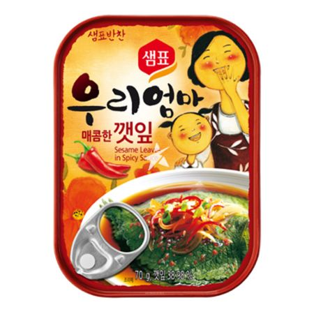 Sempio Canned Sesame Leaves in Spicy Sauce 70g