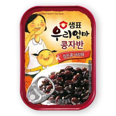 Sempio Canned Braised Black Beans in Soy Sauce 70g