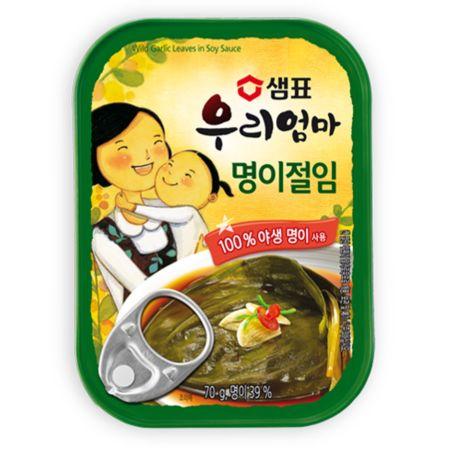 Sempio Canned Wild Garlic Leaves in Soy Sauce 70g
