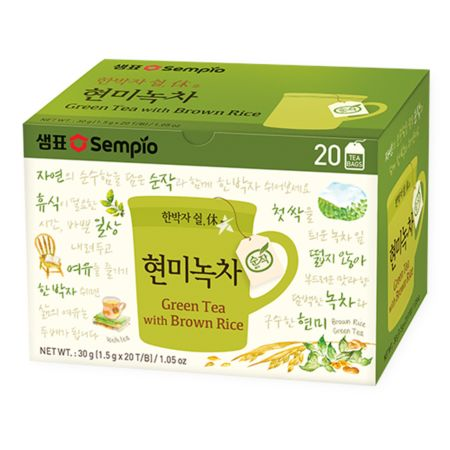 Sempio Green Tea with Brown Rice (1.5g x 20 T/B) 30g