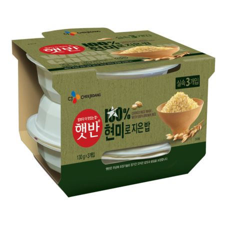CJ Cooked Brown Rice (130g x 3) 390g
