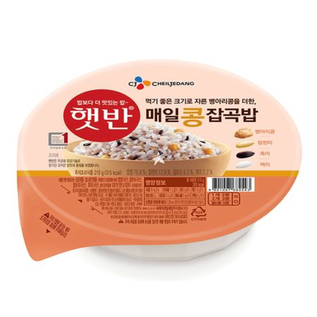 CJ Microwavable Cooked Rice - Mixed Grains with Chick Pea 210g
