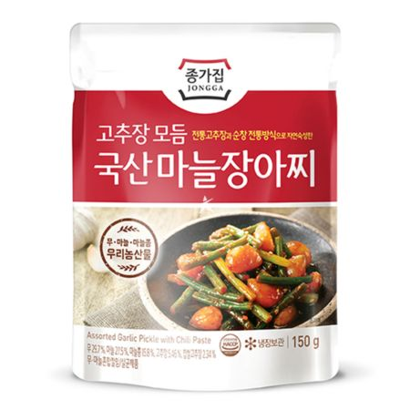 Chongga Chilli Paste Pickled Assorted Garlic 150g