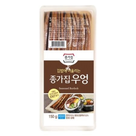 Chongga Seasoned Burdock (For Kimbab) 150g