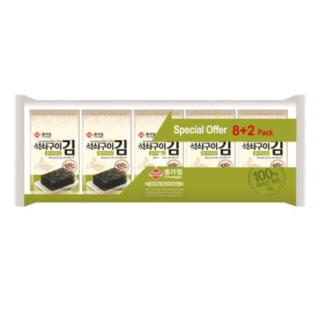Chongga Olive Oiled Seaweed 8+2 Packs 40g