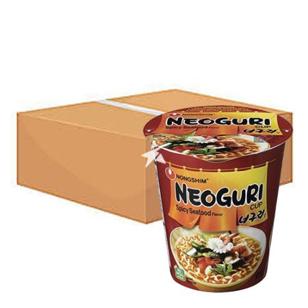 Nongshim Neoguri Spicy Seafood Flavour Cup Noodle 62g (12 Cups)
