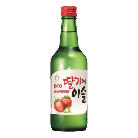 Jinro Chamisul Soju Strawberry Flavour 360ml 13% Alc./Vol
