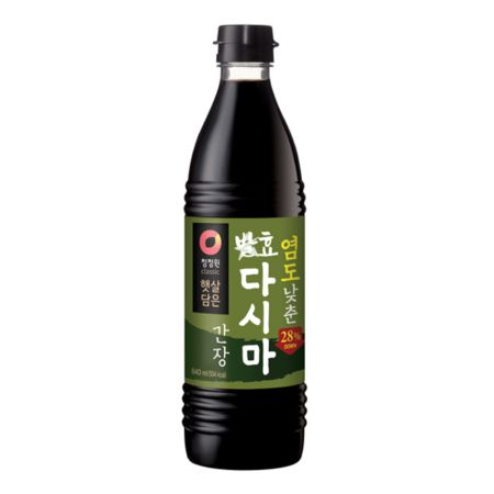 Daesang Chung Jung One Soy Sauce with Kelp (Less Salt 28%) 840ml