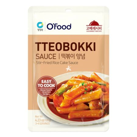 Daesang Chung Jung One O'Food Gourmet Recipe Tteobokki Sauce (Stir-Fried Rice Cake Sauce) 120g
