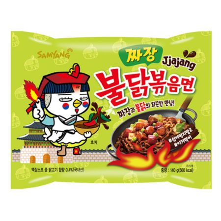 Samyang Buldak Hot Chicken Flavour Ramen - Jjajang (Korean Black Bean Sauce) 140g