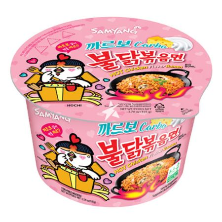 Samyang Hot Chicken Flavor Ramen Carbonara Big Bowl 105g