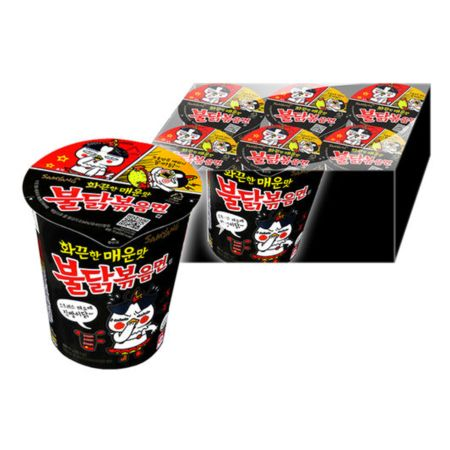 Samyang Buldak Hot Chicken Flavour Ramen - Original Cup 70g (Pack of 6)