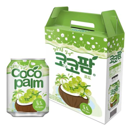 Haitai Grape Flavour Cocopam Drink 238ml (12 Cans)