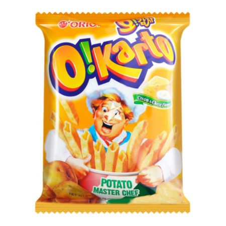 Orion O!Karto Potato Chips - Cream & Cheese Flavour 50g