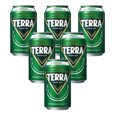 Hitejinro Terra Beer 355ml 4.6% Alc./Vol (6 Cans)