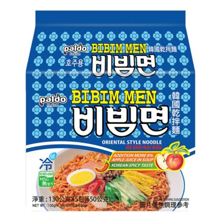 Paldo Oriental Style Noodle - Bibim Men 130g (Pack of 5)